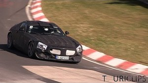 2015 Mercedes-Benz AMG GT spied testing on the Nürburgring Nordschleife!