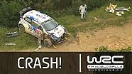 Jari-Matti Latvala´s Crash SS05/ Vodafone Rally de Portugal 2014