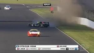 Simon Dolan's massive crash, ELMS at Silverstone 4h 2014