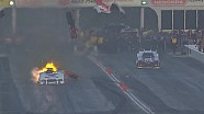 Beckman's Funny Car explodes into pieces at Atlanta