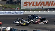 Cars pile into wreck on restart during Nationwide race