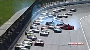 Jimmie Johnson caught up in multi-car wreck - 2014 Kansas