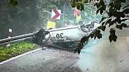Mitsubishi Lancer EVO X heavy crash at Magura Malastowska