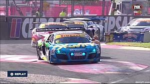 Monster crash at the start of the Australian GT Adelaide race 3
