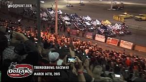 Aspectos destacados: Mundial de Outlaws Sprint Cars Thunderbowl Raceway 14 de marzo 2015