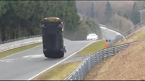 Другой ракурс: авария Nissan GT-R Nismo Яна Марденборо на первом этапе VLN 2015 года