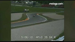MotoGP Champion Valentino Rossi crashes in 2010 Italian GP