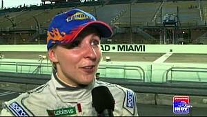 Pippa Mann Wins Pole at Miami