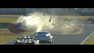 2014 Daytona Rolex 24 Matteo Malucelli and Memo Gidley Huge Crash