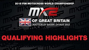 MXGP of Great Britain MX2 Qualifying Race Highlights - motocross 2015