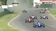 Massive crash for Bacci & Cunill Formula Abarth 2010 Imola