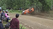 Rally Finland crashes and rollovers