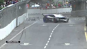 Fairuz Fauzy massive crash in a Lamborghni Super Trofeo at KL GP