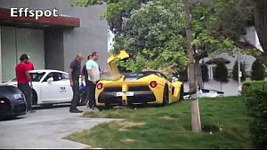 Amazingly stupid driving with a LaFerrari and a Porsche GT3 in Beverly Hills