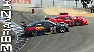 Ferrari 458 GT3 y Cadillac ATS-V.R chocan en Laguna Seca
