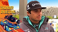 World Champion Nelson Piquet Talks Up His Teammate - (Beijing ePrix)