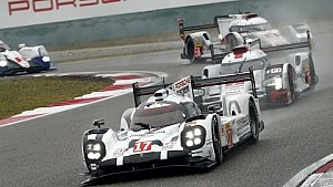 Porsche wins the FIA WEC 2015 at the 6h of Shanghai.