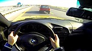 BMW M3 E36 Onboard POV Acceleration Drive on Highway