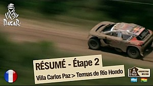 Résumé de l'étape 2 - Auto/Moto - (Villa Carlos Paz / Termas de Rio Hondo)