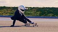 A 110 km/h en un skateboard en Paul Ricard