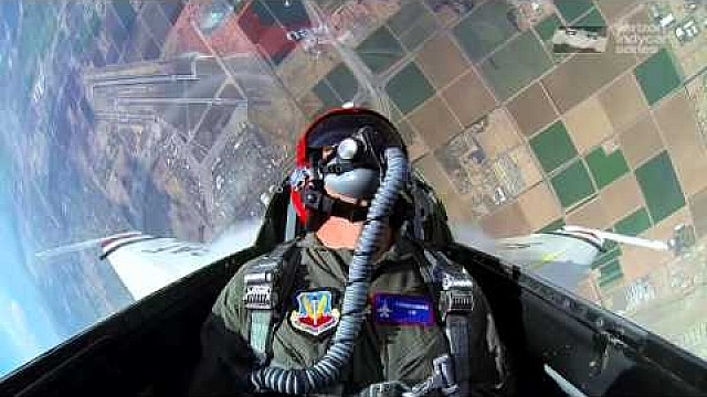 Graham Rahal Rides with the Thunderbirds