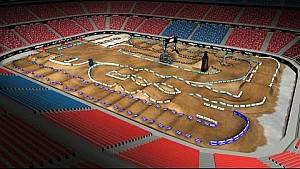 2016 AMA Supercross - St. Louis virtual track map