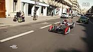 Formula E赛车 巴黎街头露面,回头率真高!