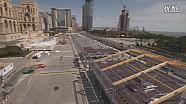 2016 F1巴库大奖赛 赛道准备完成
