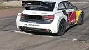 Rallycross-Test mit Mattias Ekström
