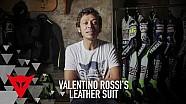 Die Lederkombi von Valentino Rossi