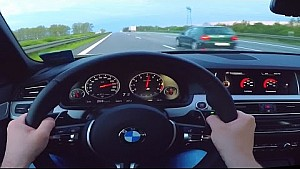 BMW M5 Onboard POV Autobahn Acceleration F10 V8 Sound BerlinTomek Test Drive