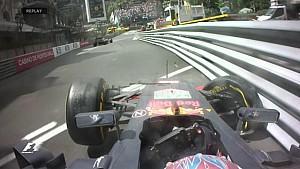 GP de Monaco - L'accident de Verstappen