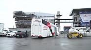 24 horas de le Mans - llegan los camiones de equipos