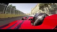 Onboard van het F1-circuit in Baku met Gulhuseyn Abdullayev