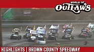 World of Outlaws Craftsman Sprint Cars Brown County Speedway June 19th, 2016 | HIGHLIGHTS