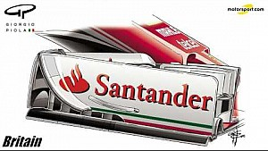 Mudanças na Ferrari SF16 em Silverstone