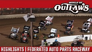 World of Outlaws Craftsman Sprint Cars Federated Auto Parts Raceway August 5th, 2016 | HIGHLIGHTS