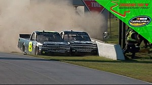 Nemechek, Custer wreck coming to the line at Canadian Tire Motorsport Park