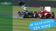 Scarab loses nose in F1 collision!