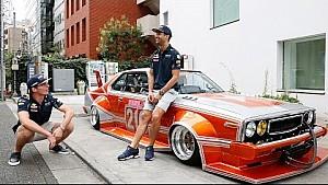Verstappen en Ricciardo chillen in Tokyo
