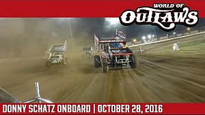World of Outlaws Craftsman Sprint Cars Donny Schatz World Finals October 28th, 2016 | ONBOARD