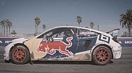 Conor Daly Drives The Red Bull Global Rallycross Honda Civic