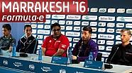 Pre-Race Marrakesh Press Conference - Formula E