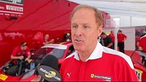 Расти Уоллес на Ferrari Challenge