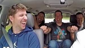 Carpool Karaoke con pilotos de NASCAR