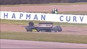 Авария Энцор Бортолето в гонке британской Ф3 в Рокингеме