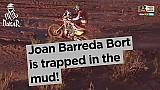داكار 2017: سيارة جوان باريدا بورت تعلق في الطين!