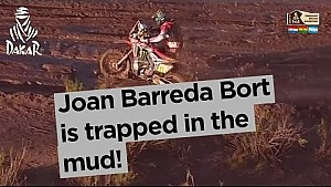 Dakar 2017: Joan Barreda Bort is trapped in the mud!