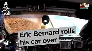 Dakar 2017: Eric Bernard rolls his car over