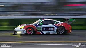 Rolex 24- Heavy braking at the Bus Stop